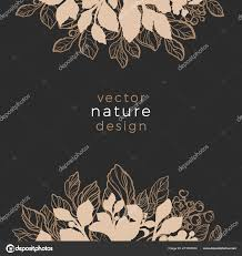 Product Line Card Template Modern Floral Card Golden Template Texture Luxury Product Art Line