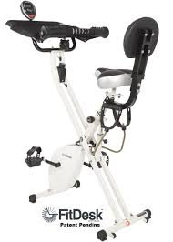 one unique aspect of the fitdesk x1 lightweight folding exercise bike with a sliding desk platform