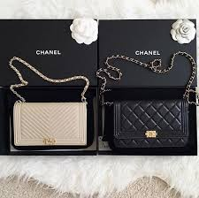 chanel bags. chanel boy wallet on a chain (woc) bags