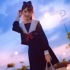 New <b>College Style</b> Long Sleeve <b>Sailor Suit</b> Japanese JK <b>School</b> ...