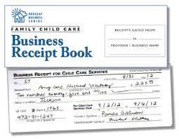Business Receipt Family Child Care Business Receipt Book