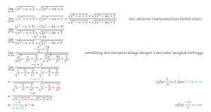 Limit tak hingga trigonometri imaginelasopa menyelesaikan soal limit tak berhingga bentuk akar 3 baris menggunkan rumus cepat matematika cara cepat limit bentuk akar turunan modifikasi. Soal Dan Pembahasan Limit Tak Hingga Bentuk Akar 1 3 Istana Mengajar