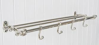 Coat Rack Chrome Traditional chrome coat rack and luggage shelf Hall furniture 60