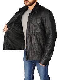 men s black leather jacket black leather jacket for men