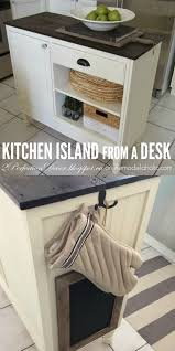 Repurposed Kitchen Island Remodelaholic Upcycled Vintage Desk Into Kitchen Island With Storage