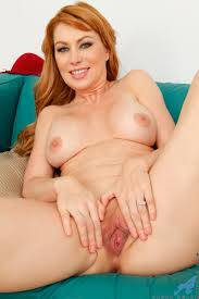 Fully clothed redhead mom strips spreads pussy for hot.