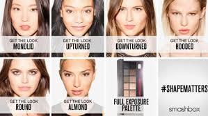 smashbox simplifies eye make up by identifying six diffe eye shapes
