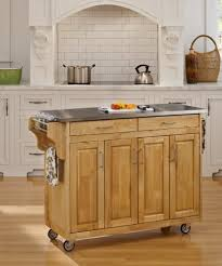 Stainless Steel Rolling Kitchen Island Portable Granite Top Kitchen