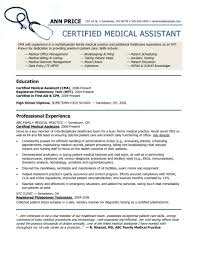 Resume Examples Templates Medical Assistant Objective 2015 For