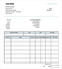 Hotel Receipt Free 18 Hotel Receipt Templates In Free Samples Examples