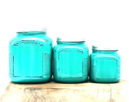 outstanding blue glass kitchen canisters unique ceramic stained design marvellous teal