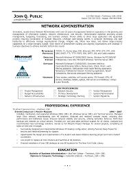Network Administrator Resume Nardellidesign Com