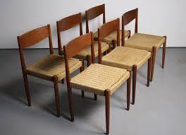 Danish Modern Dining Table Set Of 6 Frem Rojle Danish Modern Dining Chairs Abt Modern