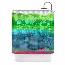 ebi emporium california surf 1 green teal shower curtain