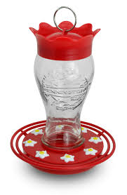 pennington 28 oz glass hummingbird feeder