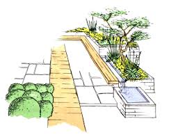 Small Picture HorseGuards1 Garden Design Devon sketch Plant A Seed Garden Design