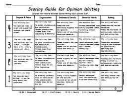 User Friendly Opinion Writing Rubric Persuasive Writing