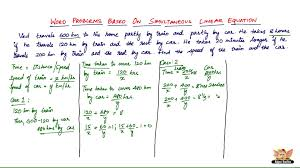 how to solve word problems based on simultaneous linear equations vol 6 7