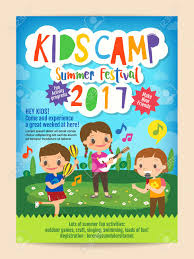 Kids Summer Camp Education Advertising Poster Flyer Template