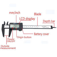 6 Inch Lcd Digital Electronic Carbon Fiber Vernier Caliper