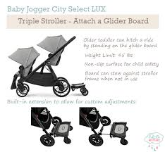 baby jogger city select lux triple stroller
