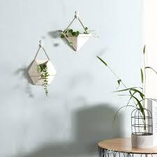 wall plant pots ceramic green plant pots indoor wall succulents planters hanging flower pot modern wall wall plant