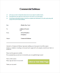 Sublease Agreement Samples 10 Commercial Sublease Agreements Word Pdf Pages