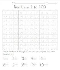 Number Tracing Worksheets 1 100 | Lobo Black
