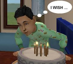 Mod The Sims Birthday Cake With A Birthday Wish