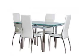 glass dining table set 4 chairs sewstars also remarkable dining