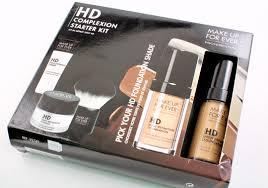make up for ever hd plexion starter kit