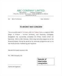 Marketing Internship Completion Certificate Sample New Internship