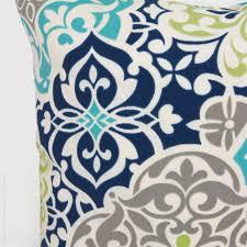 Outdoor pillow Patio cushion Aqua navy blue by ClassicByNature