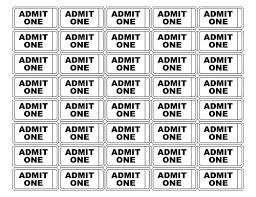 Free Printable Admit One Ticket Templates Its My Party