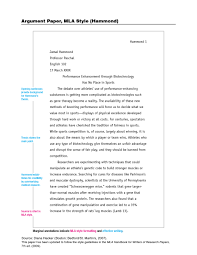 012 Mla Style Research Paper Examples Response Pinterest Format