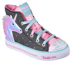 Skechers Light Up Unicorn Shoes Twinkle Toes Shuffles Prancing Pretty