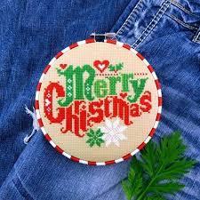 Amazon Com Merry Christmas Sampler Cross Stitch Pattern