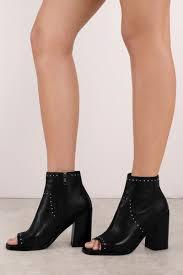sol sana sol sana voyage black leather ankle heeled boots
