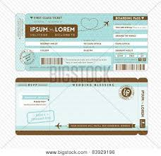 Boarding Pass Wedding Vector Photo Free Trial Bigstock