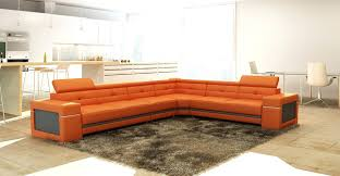 orange sectional sofa outstanding best leather with u33
