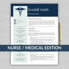Medical Resume Template Cool Nurse Resume Template for Word Medical Resume Nurse CV Etsy