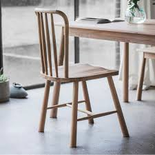 alpine set of  windsor oak dining chairs  oak dining furniture