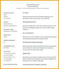 Format For An Executive Summary Executive Summary Template Free Templates Examples For