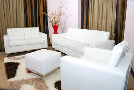 Living Room Chairs With Ottoman White Leather Tufted Office Chair Luxhotelsinfo