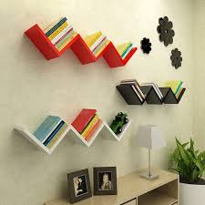 details about floating wood wall shelf storage display shelves furniture home office decor