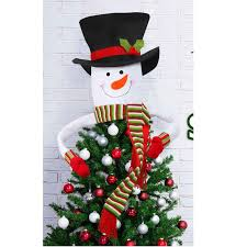 large snowman tree decor home outdoor tree toppers hanging ornaments snowmen with scarf hat gift decorations items