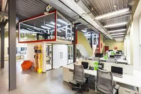 creative office design. contemporary office design glass walls bright yellow orange green and red interior colors creative