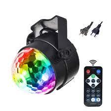 Đèn LED sân khấu xoay 7 màu có remote điều khiển - Đèn LED vũ trường nháy  theo nhạc