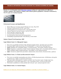 Physician Assistant Resume Template 62 Images Doctor Office