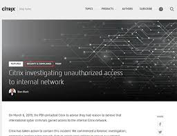 米citrixfbiからの連絡でサイバー攻撃により社内ネットワークに侵入